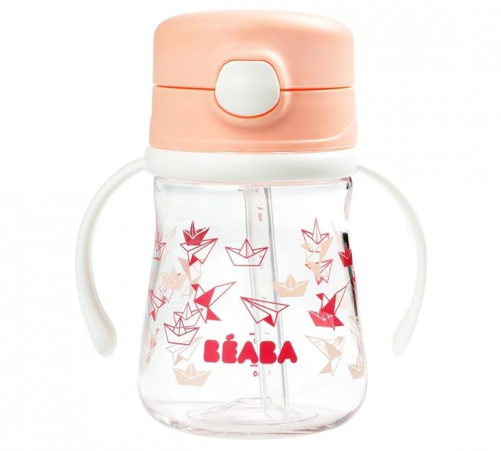 Поильник Beaba Tasse Paille 240ml Light Pink в Усть-Каменогорске