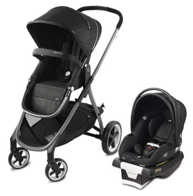 Коляска траснформер 2в1 Evenflo Travel System Shyft Black в Усть-Каменогорске